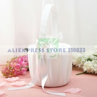 Calla Lily Wedding Flower Girl Basket For Wedding Ceremoney Articles Party Supplies Free Shipping