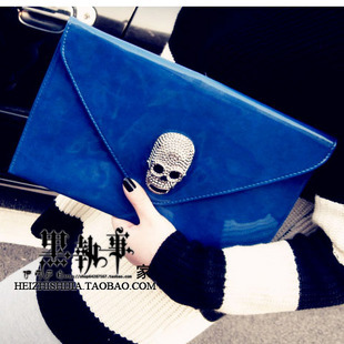 new arrival women handbag Punk skull clutch evening bag ,envelope clutch fashion bag free shipping