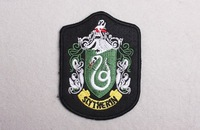 Free shipping--Retail and wholesale embroidered badges/fabric sticker/embroidered patch/harry potter Slytherin badge