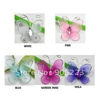"Free shipping Wedding Decoration 1"" Mixed 50pc Stocking Butterfly new wholesale /retail"