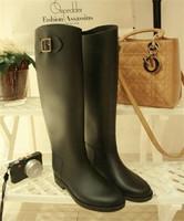 high quality pvc rain boots riding boots fashion female wellington boots