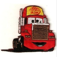 Free shipping--Retail and wholesale embroidered badges/fabric sticker/embroidered patch/cars pixar/Cars Mack badge