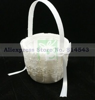 White Lace Floral Theme Flower Basket For Wedding Ceremony Stuff Free Shipping New Arrival