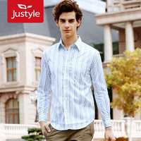 2012 autumn and winter fashion Men white small striga commercial men's clothing long-sleeve shirt,5 pieces/lot free ship