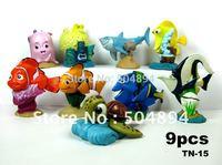 9 PCS./set Finding Nemo Shark turtle clown fish Figures Toys