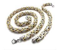 Hot sale Cool Stainless Steel Men's Byzantine Necklace&Bracelet Set