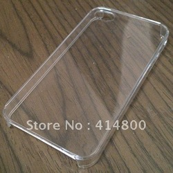Hard transparent shell of mobile phone For Iphone4 4S free shipping(China (Mainland))