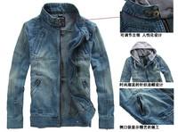 Spring outerwear 2012 men's clothing denim coat denim outerwear jacket denim top slim retro finishing male