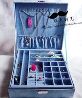 Free shipping   jewelry box princess fashion wooden cosmetic box  large  26*26*8.5cm