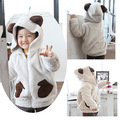style rabbit outerwear grey top male child winter outerwear boy jacket ,5pcs/lot free shipping