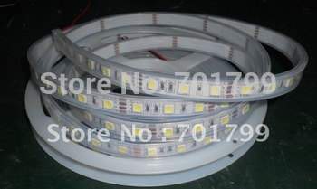 DC12V 5m(one roll) 5050 SMD 60LEDs/m led strip,waterproof by silicon tube,IP68