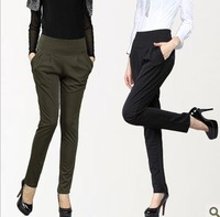 Wholesale!2012 Hitz Korean tide Haren womens pants elastic waist size XL significantly thin trousers leisure pants Free Shipping