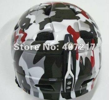 Free shipping sports safety protector Camouflage snowboarding helmet breathable ski helmet skateboard headpiece head armor helm