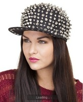 Free shipping PUNK style caps and Visors women and men caps All-over Spike Caps