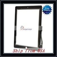 Free Shipping + Wholesale 5pcs/lot Digitizer Touch Screen For iPad 3/For The New iPad Black Ship from USA-87004423