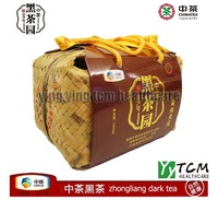 Wholesale and Retail 2000g/piece China special health tea Anhua Zhongliang dark brick tea Black tea garden