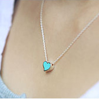 accessories sweet all-match small heart necklace chain female 5g