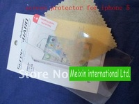 New Clear Screen Protector for iphone 5 with retail package Wholesale 2000PCS/LOT DHL free shipping