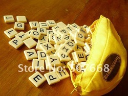 Banana Word Game Scrabble Game Crossword Word Anagram Popular Puzzle Toys puzzle doll 50sets DHL Free Shipping(China (Mainland))