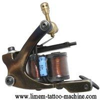 1pcs free shppping handmade brass custom Liberty  tattoo machine ,strong copper circle frame tattoo gun