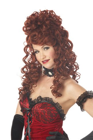 2012 new free shipping The retro Halloween Madame beautiful dark brown long curly wig Cosplay fashion Prince Harry 'parties in the nude'. Prince Harry