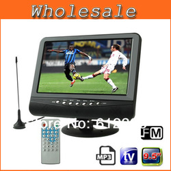 9.5 inch TFT LCD color Analog TV with wide view angle, Support SD/MMC Card, USB Flash disk, AV In/AV Out, FM Radio function F S(China (Mainland))