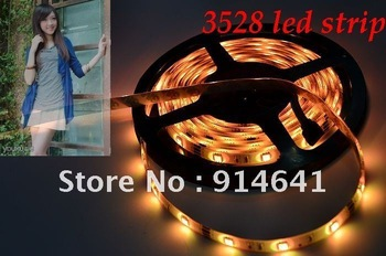 free shipping 3528 60led/m 5M  LED Strip SMD Flexible light  ip65 waterproof rgb/warm/white/red/green/blue/yellow