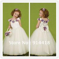 The Best Seller Cute Tulle Handmade Flowers Christmas Dress Freeshipping