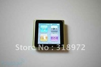 Free shipping fashionable 1pc 1.8 inch Touch Screen 16GB 6th Gen clip mp4 player No retail package 7 colours to choose