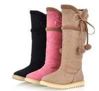 New winter flat-in-tube snow boots
