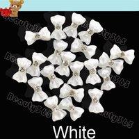 100pcs/Lot  3D Glitters Bow Tie Nail Decoration Bowtie Butterfly Acrylic Rhinestones Nail Art Tips DIY Decoration 5045