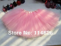 Free Shipping Girl Dance Party Pink Tutu Pirncess Birthday Tutus skirt Wholesale Tutu skirt
