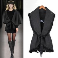 Wool ! autumn new arrival quality cutout sleeveless cardigan autumn women's outerwear