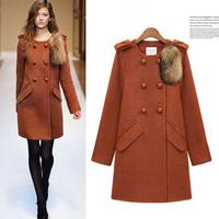 Autumn women's middot . ELAND high quality woolen women's outerwear overcoat