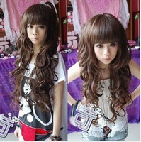 FREE SHIPPING 3 Color Curly long Wigs Party Cosplay Fancy Dress Fake /Lace synthetic Hair Wig