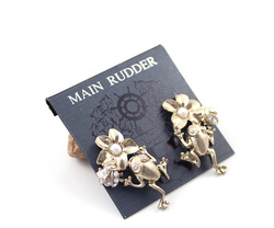 min order $10 main rudder frog sparkling matt stud earring ej women(China (Mainland))