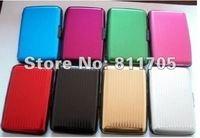 8 color availbale Aluminum Credit card wallet card cases and card holder wholesale and retail