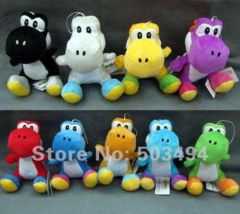 Yoshi Plush doll super mario bros toys 9 colors 6 inch Free Shipping 45/LOT