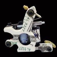 Wholesale - New Cast Iron Tattoo Machine Gun shader liner 10 Wraps Coils P1060366