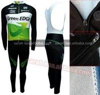 2012 Greenedge Thermal Long Sleeves Cycling Jerseys and BIB Pants Custom