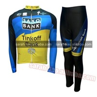 2012 Saxobank tour de france Long Sleeves Cycling Jerseys and pants Dropshipping custom accepted S~XXXL