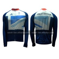 2012 GB Olympic blue Only Long CYCLING JERSEY SIZE S~XXXL custom