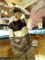Men&#39;s fashion Autumn and winter male sweater male o-neck sweater