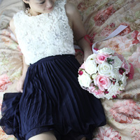 2012 Formal dress one-piece pregnantwith sisters chiffon tank dress rose