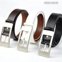 new 2014 Fashion personality wide steel head cowhide strap leather Buckle Belt p28