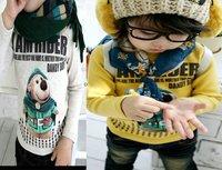 Promotion+retail children boys girls bingpig shirts sweatershirt hoody T-shirts baby clothing 1-7 year free shipping
