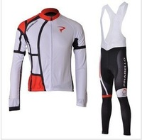 2012  white  PINARELLO   cycling  Bicycle  Sportswear  clothing Cycle Wear Long Sleeve  Jersey + bibs  pants suit