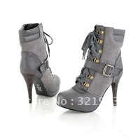 2012 New waterproof ultra high heels Gray Martin boots
