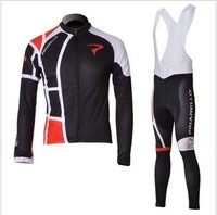 Sportswear  black  PINARELLO   cycling  Bicycle   clothing Cycle Wear Long Sleeve  Jersey + bibs  pants suit