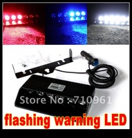 Free shipping hot sale  high power with convex mirror DC 12V 6W  flashing warning light